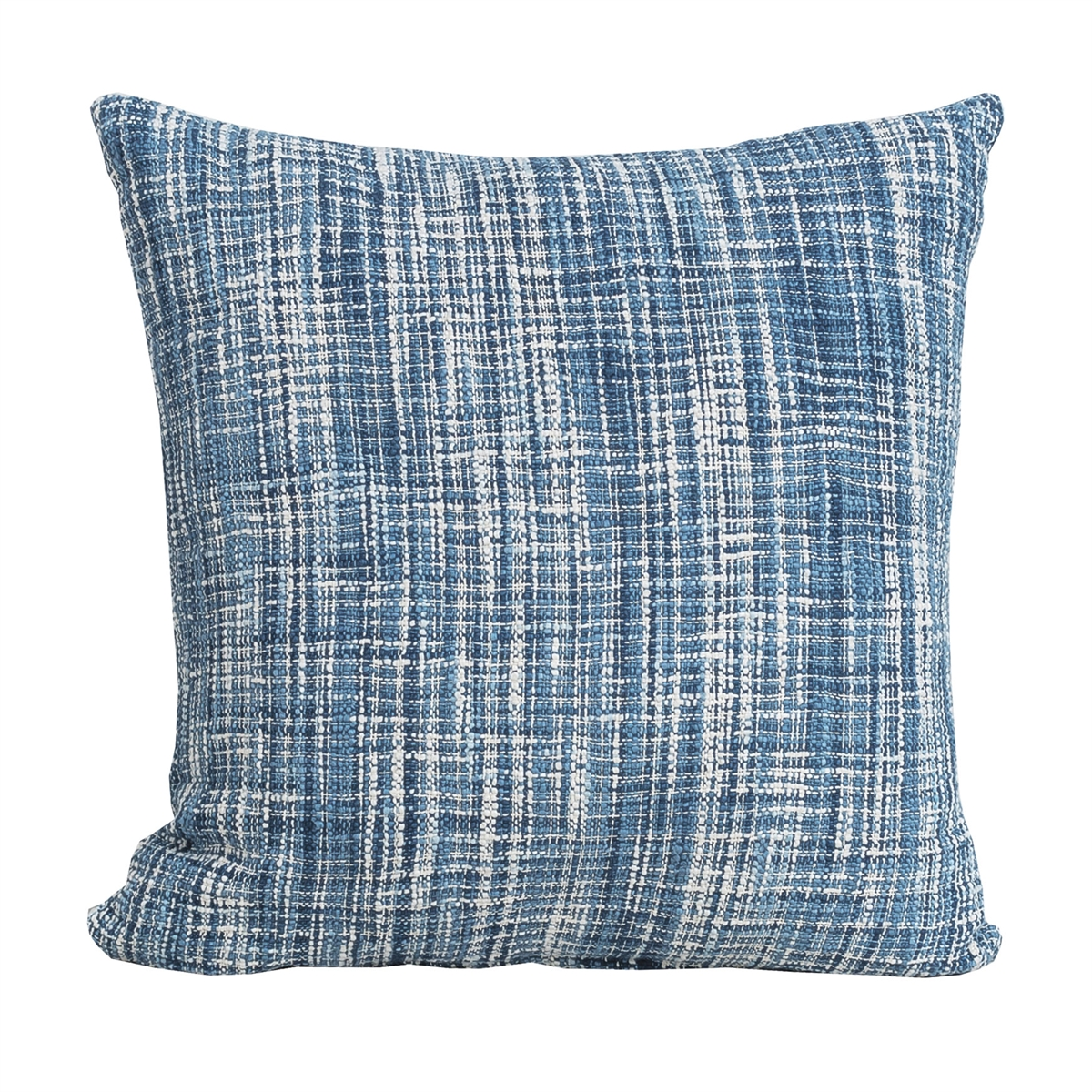 Decorative Pillows With Fringe Part - 26: ... Thatcher Indigo Pillow,carol U0026 Frank,Cotton Slub,Space Dyed,Fringe,