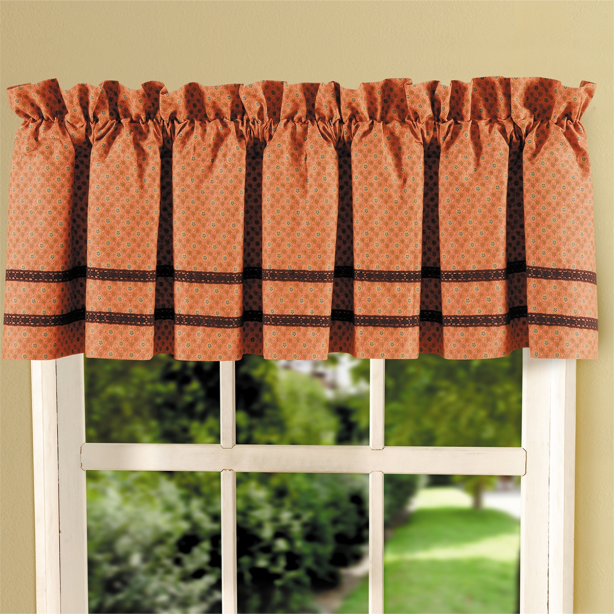 Burnt Orange Medallion Valance C Amp F Home
