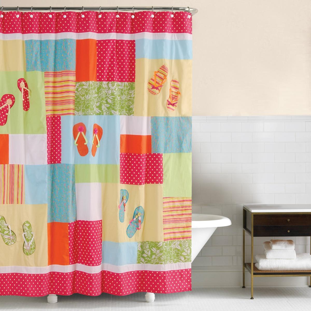 Flip Flops Beach Shower Curtain  Flip Flop Shower Curtain