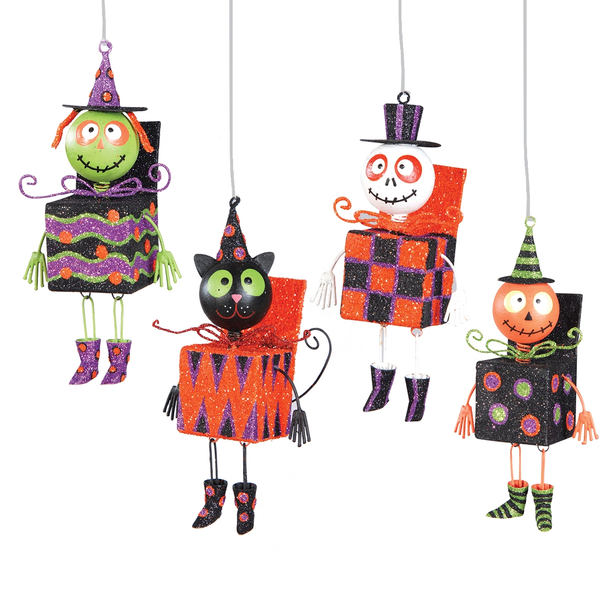Halloween Jack-In-Box Orn, A/4 | C&F Home