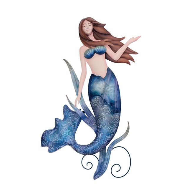 Mermaid Wall Art indigo mermaid wall art | c&f home