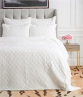 Sutton Dove King Quilt,ELISABETH YORK,Diamond,Chambray,Luxury,Bedding,Luxury Bedding,Quilt,Luxury Quilt