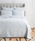 Sutton Fog King Quilt,ELISABETH YORK,Diamond,Chambray,Luxury,Bedding,Luxury Bedding,Quilt,Luxury Quilt