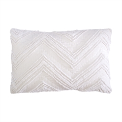 Candlewick Dove Pillow,ELISABETH YORK,Hand Crafted,Luxury,Chenille,Candlewick,Pickstitch,Chevron,Texture,Bedding,Luxury Bedding,Decorative Pillow