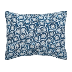 Sumi Std Sham,ELISABETH YORK,Standard Sham,Sham,Japanese Shibori,Indian Block Print,Hand Crafted,Luxury,Luxury Bedding