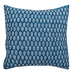 Sumi Euro Sham,ELISABETH YORK,Euro Sham,Sham,Japanese Shibori,Indian Block Print,Hand Crafted,Luxury,Luxury Bedding