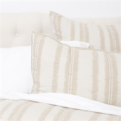 Farren Euro Sham,ELISABETH YORK,Fiber Dyed,Jacquard Woven,Stripe,Luxury,Bedding,Luxury Bedding,Stripes,Euro Sham,Sham