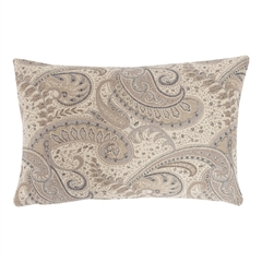 Abha Pillow,ELISABETH YORK,Jacquard Woven,Paisley,Luxury,Decorative Pillow