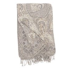 Abha Throw,ELISABETH YORK,Jacquard Woven,Paisley,Luxury,Throw,Luxury Throw