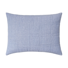 Hugh Std Sham,carol & frank,Standard Sham,Sham,Bedding,Luxury Bedding,Chambray,Trendy
