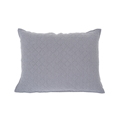 Jersey Gray Std Sham,carol & frank,Bedding,Standard Sham,Sham,Luxury Bedding