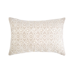 Button Crewel Pillow,ELISABETH YORK,Decorative Pillow,Luxury